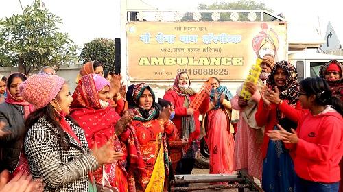 नववर्ष पर लिया गौ सेवा का संकल्प