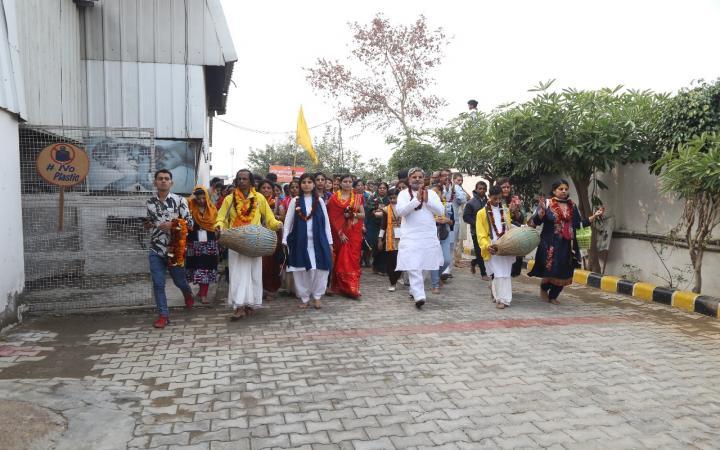 गौसेवा धाम में हुआ ब्रजयात्रियों का भव्य स्वागत
