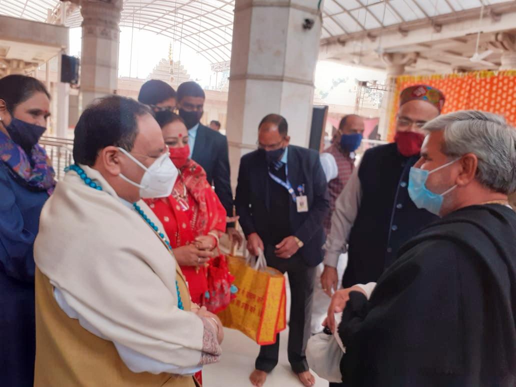 ट्रस्ट के अध्यक्ष पंडित टीकाराम स्वामी जी ने दिल्ली में श्री जेपी नड्डा जी के साथ शिष्टाचार करी मुलाकात